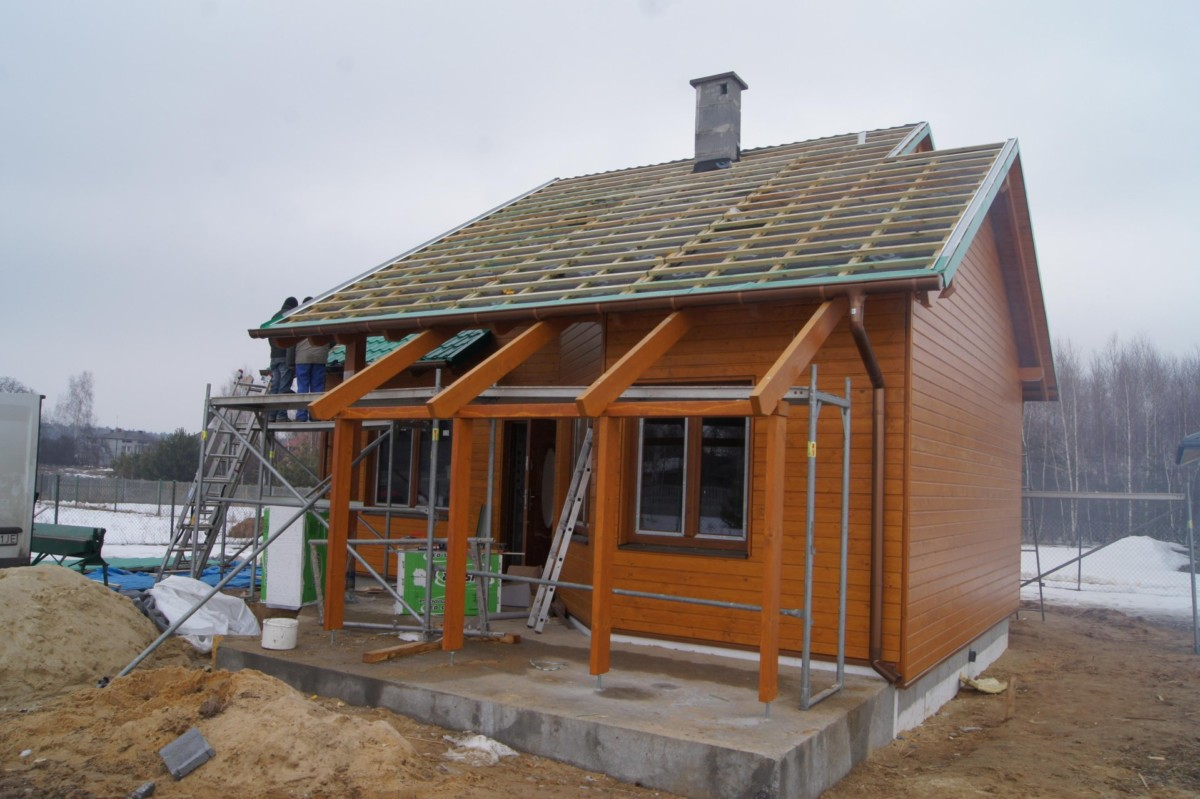 Domikon - Nowoczesny dom z drewna, <span>Tomaszów Mazowiecki</span>