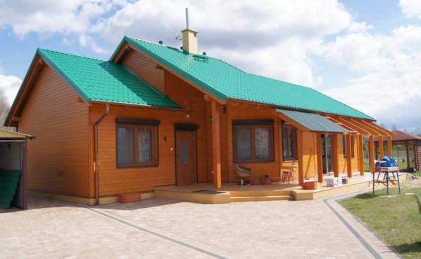 Nowoczesny dom z drewna, <span>Tomaszów Mazowiecki</span>
