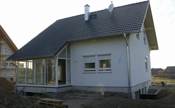 Dom z dachem dwuspadowym, Niemcy Karlsruhe