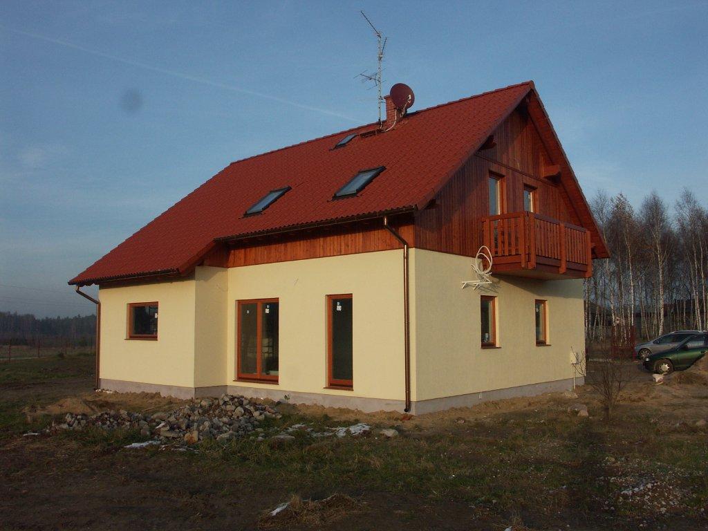 Domikon - Dom z otwartym stropem nad salonem, Łódź