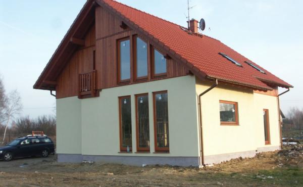 Dom z otwartym stropem nad salonem, Łódź