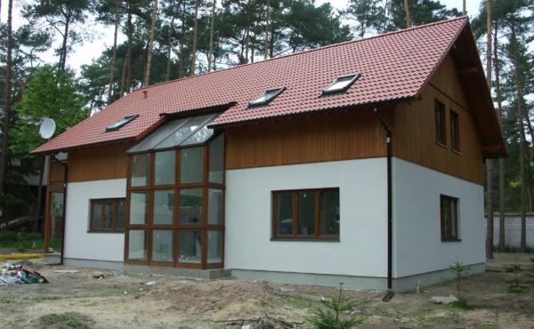 Dom z przeszkleniem, Warszawa Magdalenka