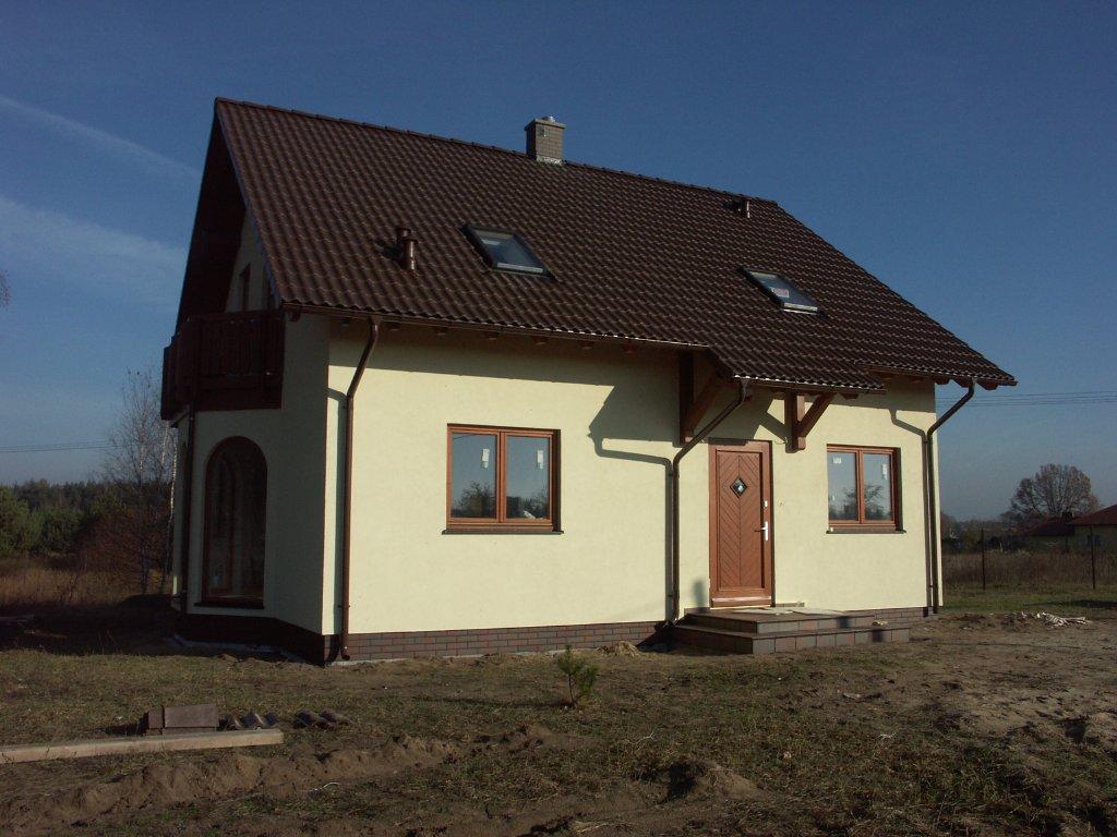 Domikon - Dom z poddaszem użytkowym, Warszawa Stara Wieś