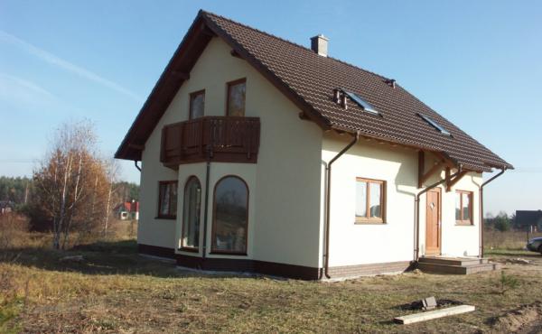 Dom z poddaszem użytkowym, Warszawa Stara Wieś