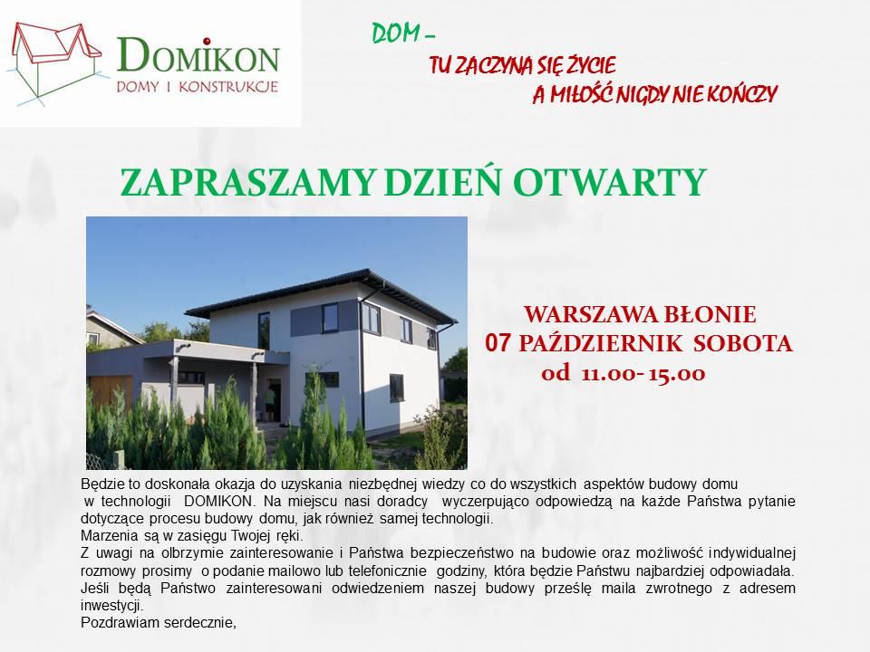 Domikon - Dzień Otwarty, Warszawa Błonie, 07.10.2017