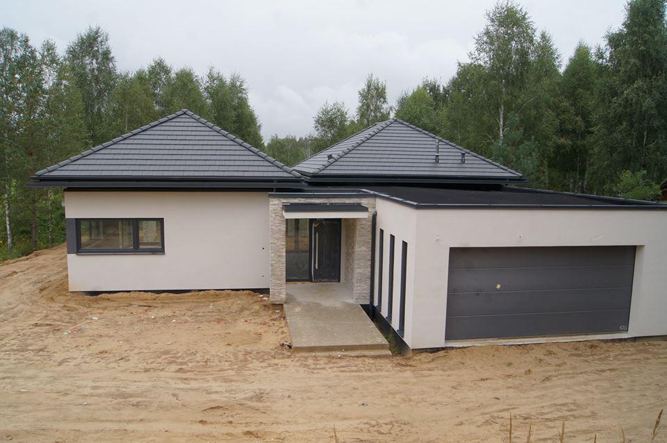 Domikon - Nowoczesny, parterowy dom energooszczędny, Łódź.
