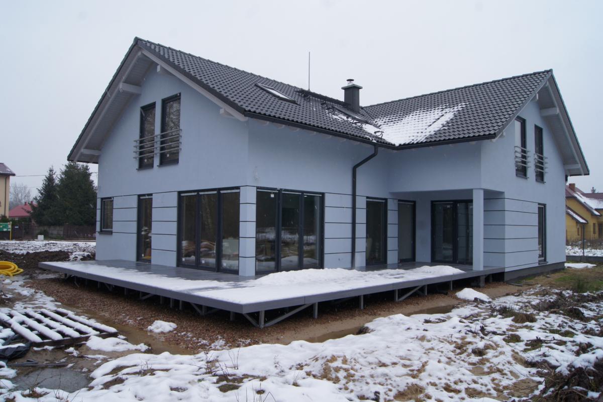 Domikon - Dom z garażem dwustanowiskowym, Warszawa Żabia Wola