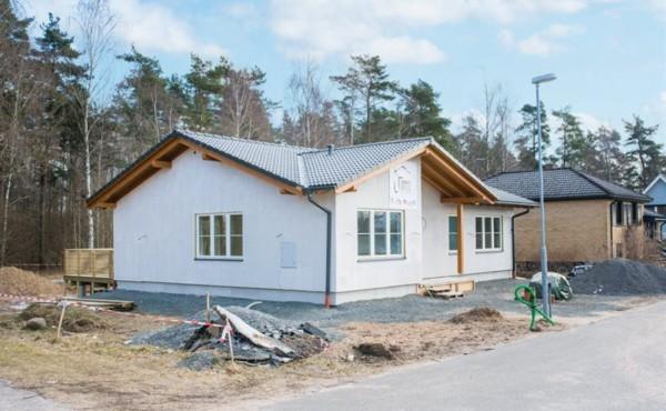 Parterowy dom energooszczędny  w Szwecji