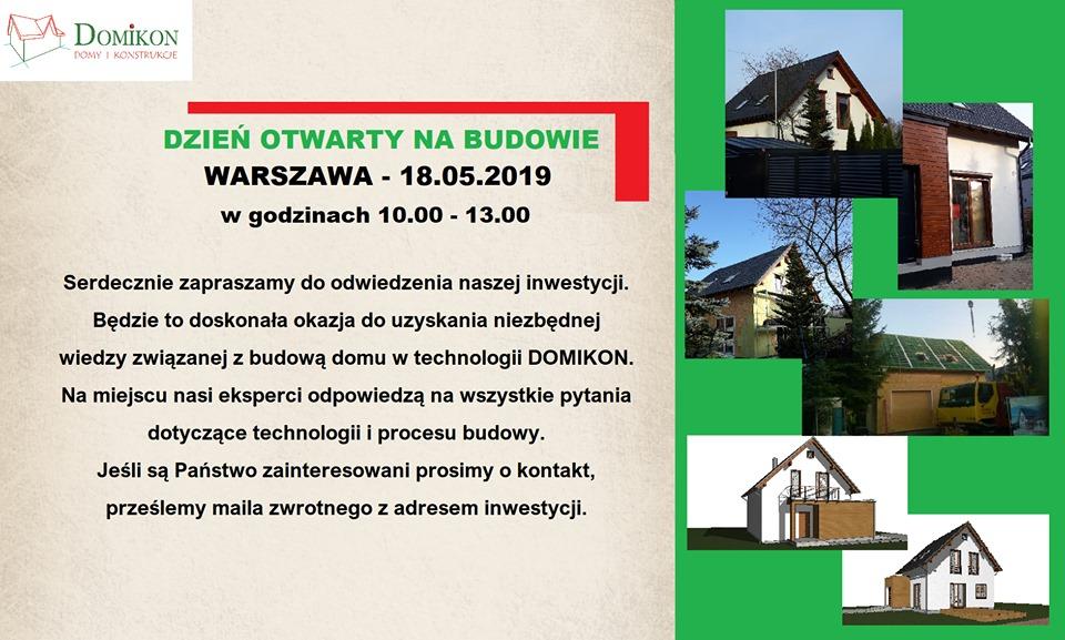 Domikon - Zapraszamy 18 maja w sobotę na Dzień Otwarty w Warszawie
