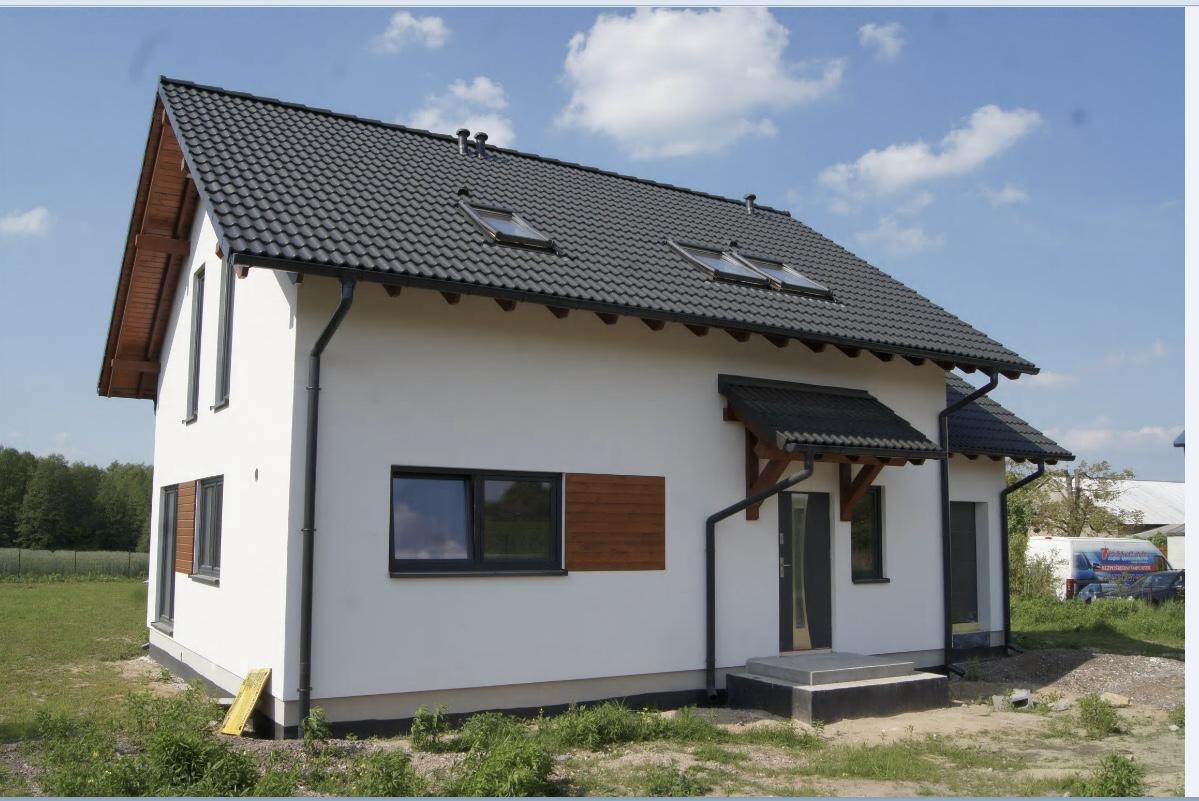 Domikon - Dom z poddaszem użytkowym i garażem, Łódź.