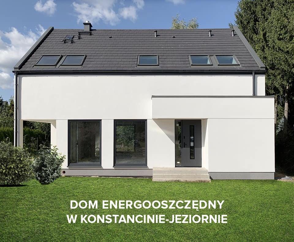 Domikon - Nowoczesny dom z poddaszem użytkowym, Konstancin- Jeziorna