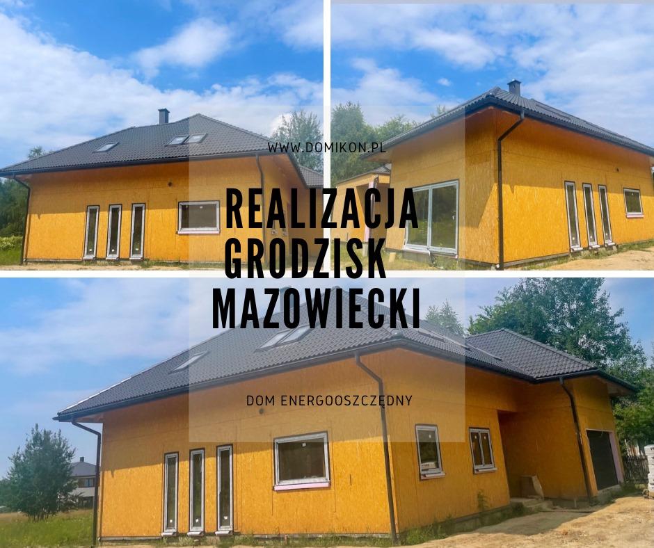 Domikon - Parterowy dom, okolice Warszawy.